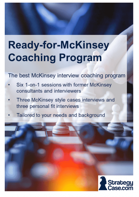 the image is the cover of the mckinsey interview training by strategycase.com