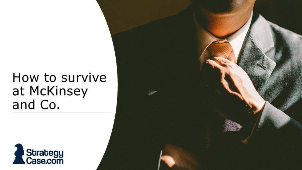 the image is the cover for an article on how to survive as an analyst with mckinsey and other consulting firms