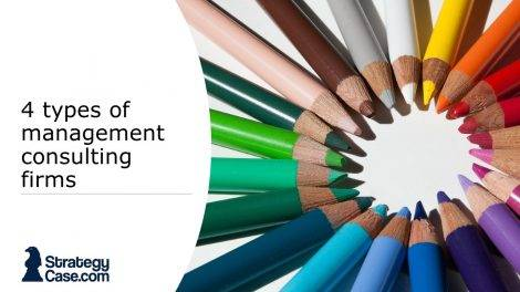 the image shows the cover of an article on different kinds of managament consulting firms