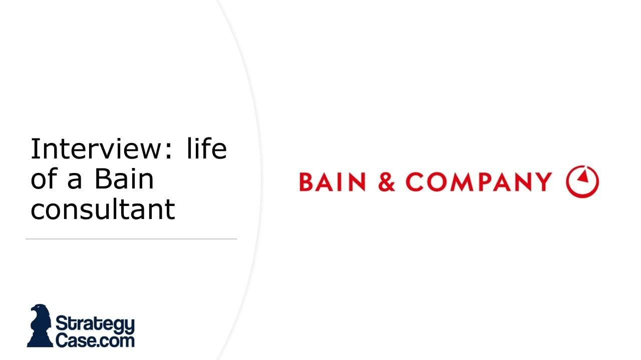The image is the cover for the article of the interview with a Bain consultant