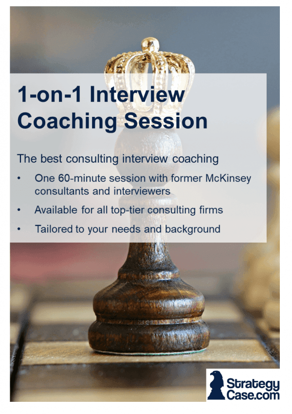 the image is the cover of the consulting case coaching service of strategycase.com