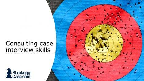 the image is the cover for the article on case interview skills