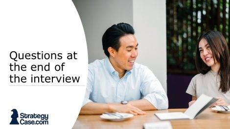 the image is the cover for the article on questions to ask at the end of the interview