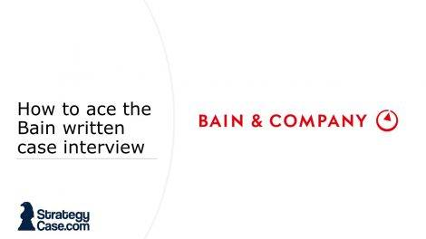 the image is the cover of an article on how to ace the bain written case interview