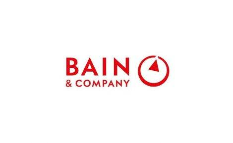 the image shows the logo of bain and company