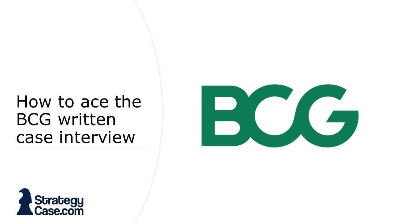 the image is the cover of an article on how to ace the bcg written case interview