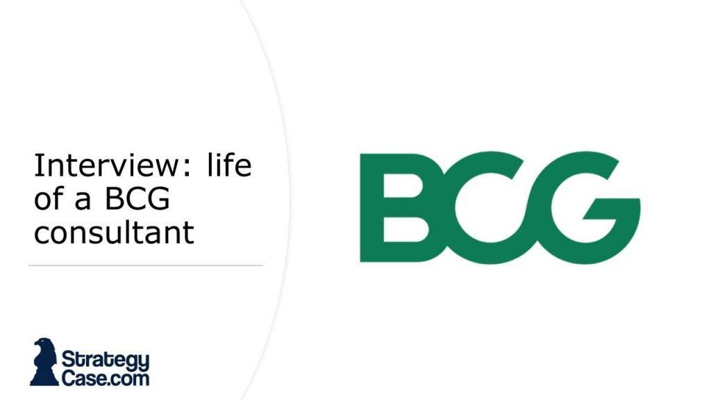 The image is the cover for the article of the interview with a BCG consultant