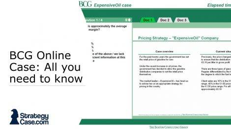 the image shows a screenshot of the bcg online case and potential test