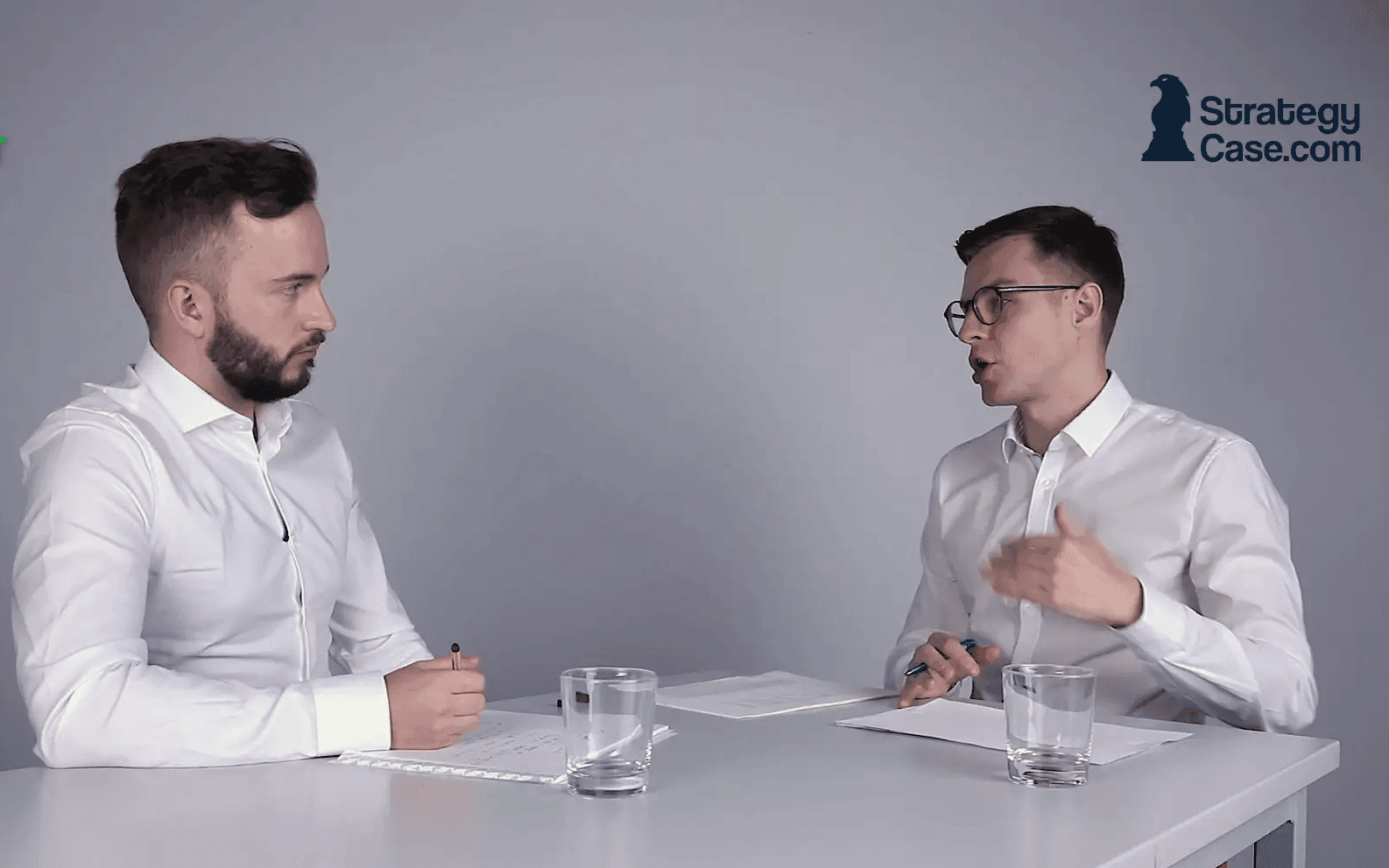 the image shows how a mckinsey interview is conducted