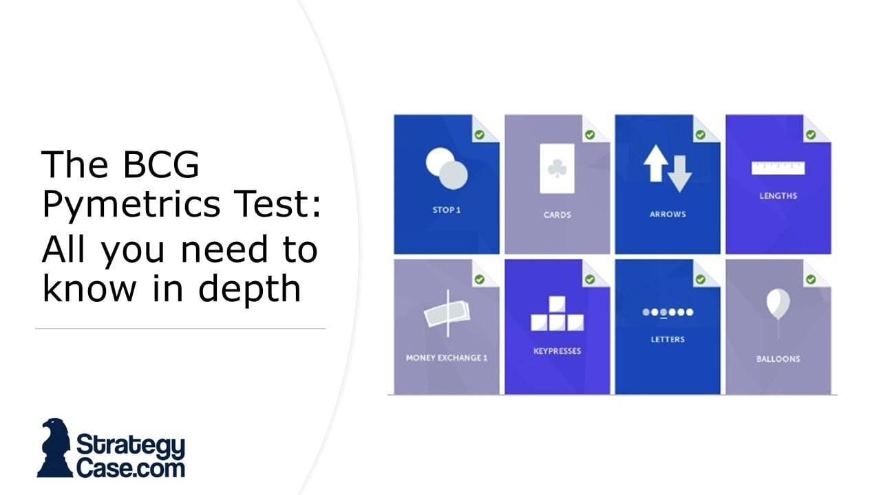 The image is the cover of our BCG Pymetrics Test guide and information