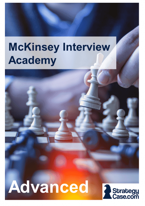 Cover of StrategyCase.com McKinsey Interview Advanced package
