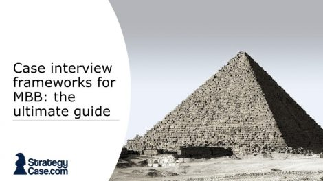 the image is the cover of an article on how to create a structure and framework in a case interview with mckinsey, bcg, and bain