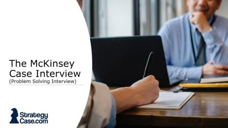 the image is the cover for the mckinsey case interview or problem solving interview article