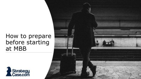 the image is the cover for an article on how and what to prepare before starting at mckinsey bcg bain