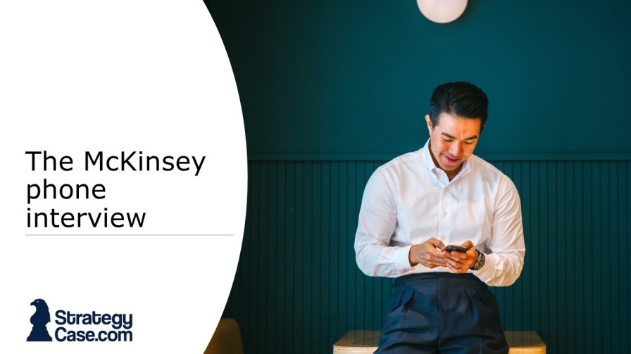 the image is the cover on an article on the mckinsey phone interview