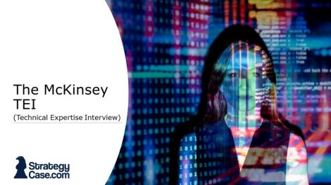 the image is the cover for an article on the mckinsey technical expertise interview TEI